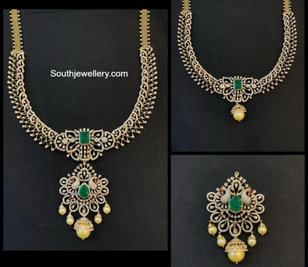 3 in 1 diamond necklace