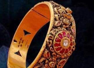 antique gold nakshi kada (1)
