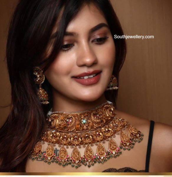 antique gold necklace set (2)