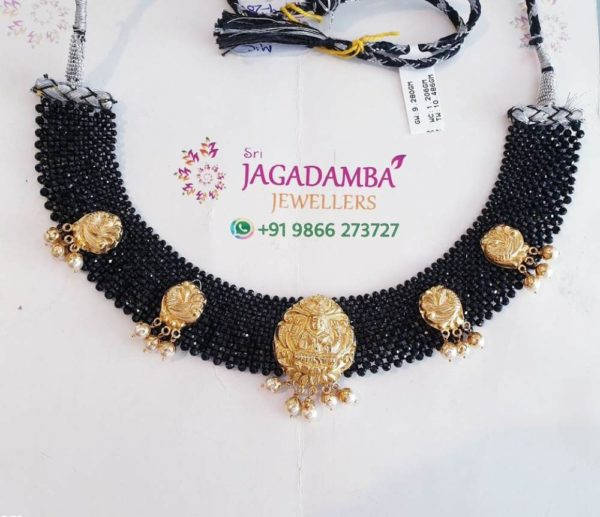 black beads jaal necklace (1)