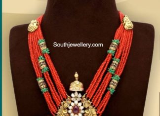coral beads necklace tiraa