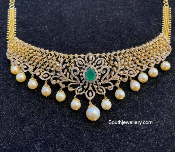 diamond emerald choker (2)
