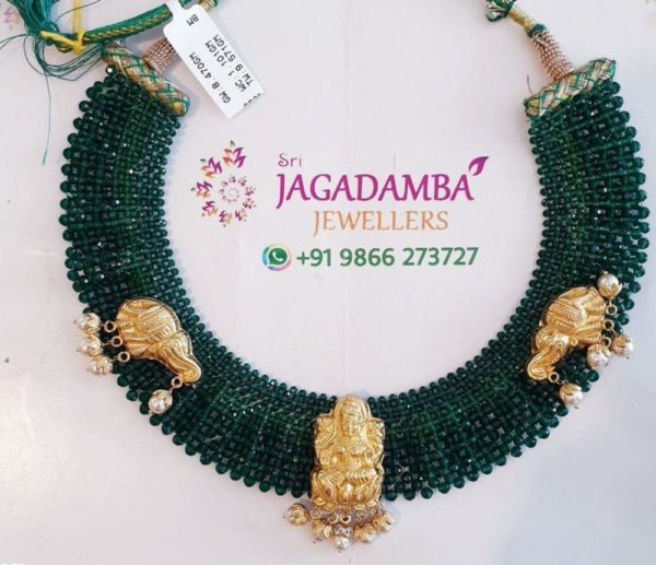 emerald beads jaal necklace (1)