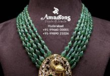 emerald beads necklace (5)