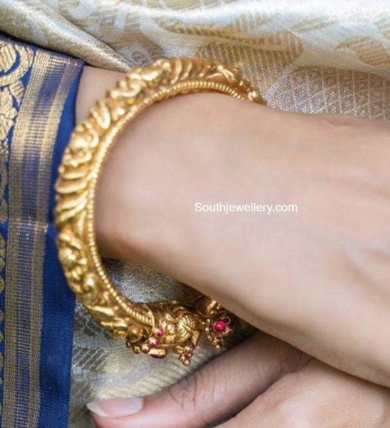 antique gold nakshi kadam by ananth diamonds