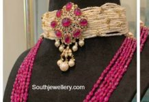 pearl choker and ruby haram
