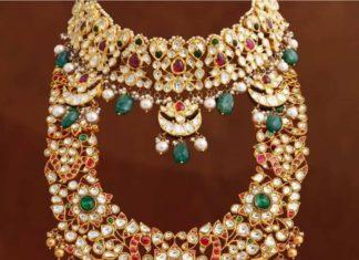 polki diamond choker and haram (1)