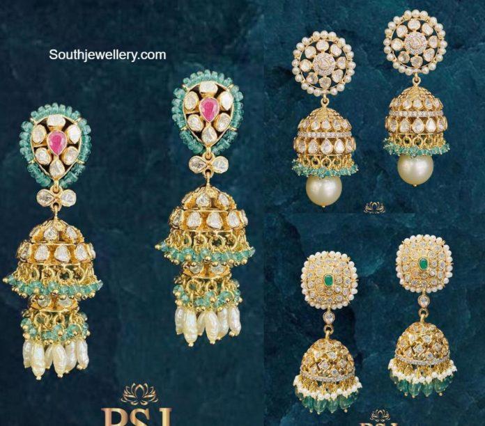 polki diamond jhumki designs (1)