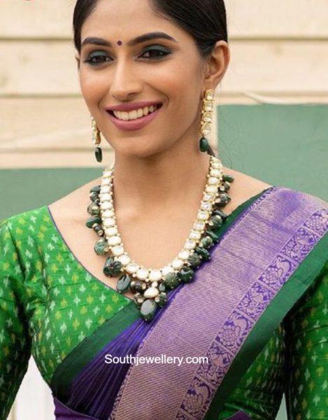 polki emerald necklace set (1)