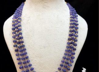 tanzanite beads mala