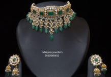 uncut and emerald choker set