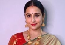 vidya balan in temple jewellery