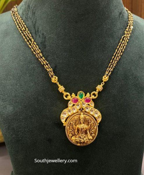black beads necklace aarni