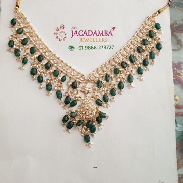 cz emerald necklace (2)