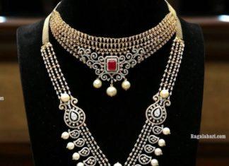 diamond choker and haram by manepally (1)