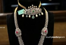 diamond choker and haram by manepally