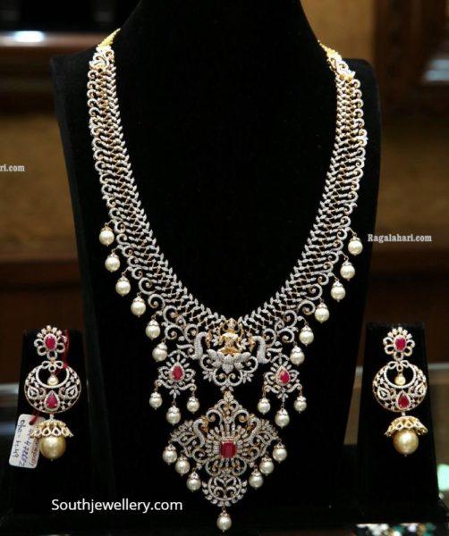 diamond choker and haram by manepally (3)