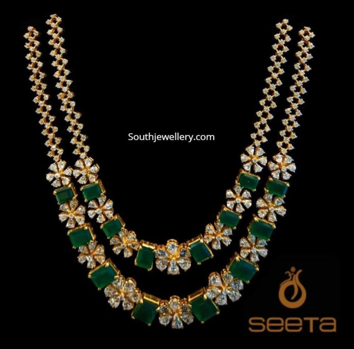 emerald and polki necklace