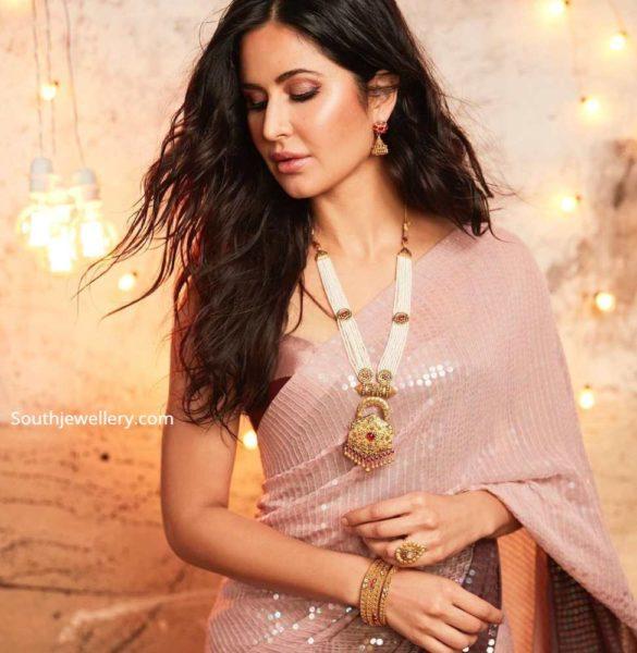 katrina kaif in kalyan jewellers pearl haram (1)
