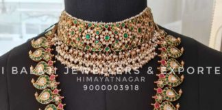 kundan choker and mango mala