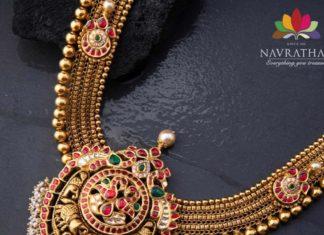 kundan gold haram navrathan jewellers
