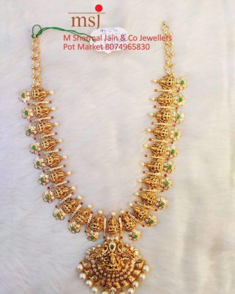 lakshmi gold haram (2)