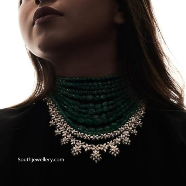 layered emerald beads necklace (1)