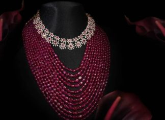 layered ruby beads necklace (1)