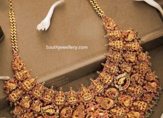 peacock and lakshmi choker svtm jewels