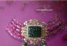 ruby beads choker