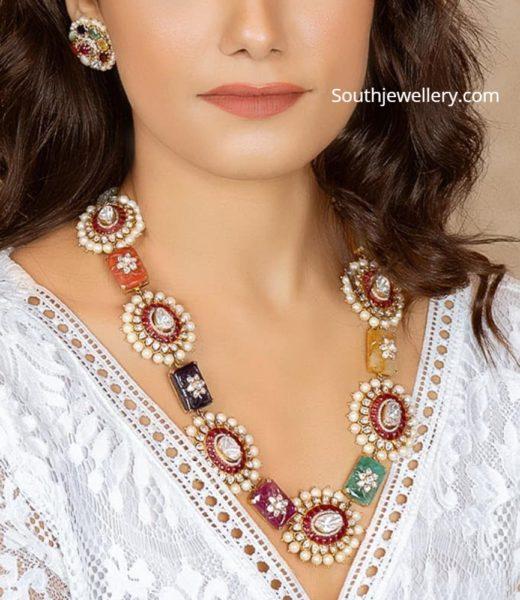 uncut diamond long necklace (1)