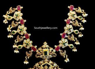 uncut peacock necklace