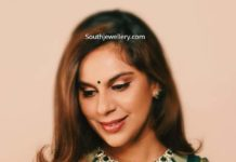 upasana konidela emerald necklace set