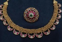antique gold kundan necklace set vajra jewelry
