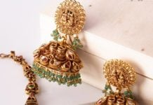 antique gold nakshi jhumkas (1)