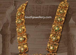 antique gold peacock haram mangatrai