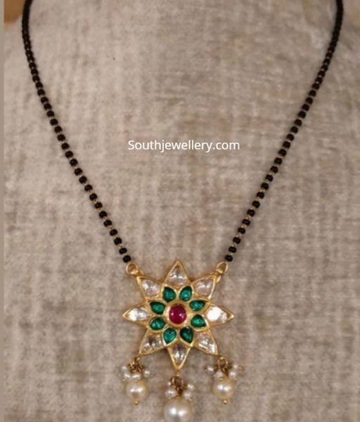 black diamond necklace designs (2)