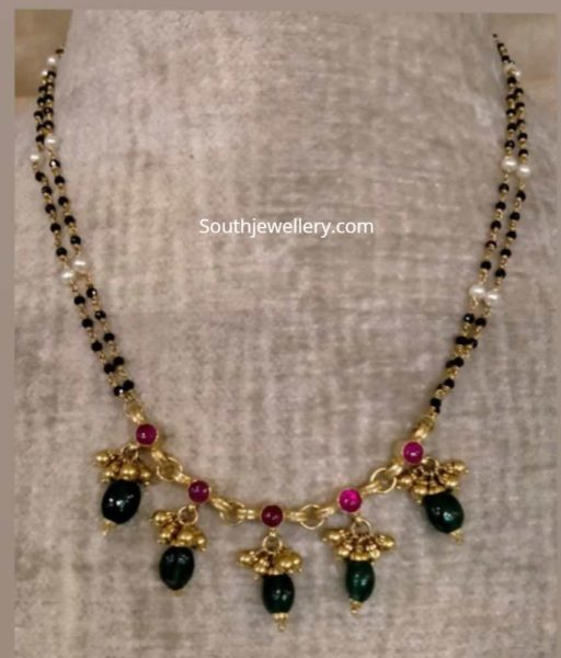 nallapusalu necklace designs latest