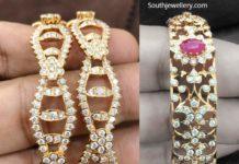 closed setting diamond bangles