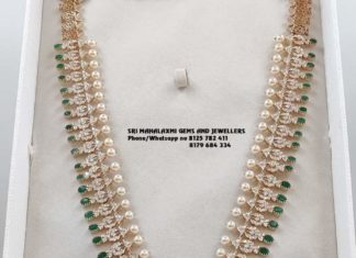 closed setting diamond haram and jhumkas