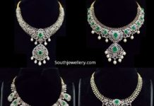 diamond emerald necklace designs agastya