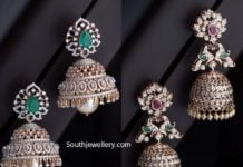 diamond jhumki designs navrathan jewellers