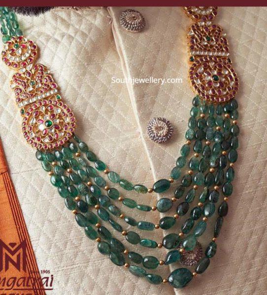 emerald beads haram for groom men