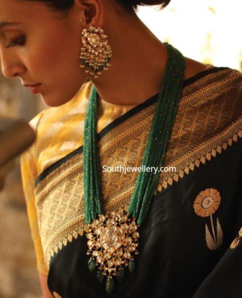 emerald beads haram set