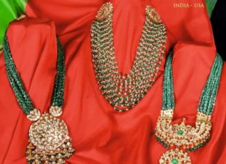 emerald beads necklace designs latest 2020