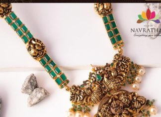 emerald necklace with pendant