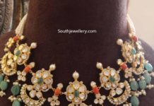 floral uncut diamond necklace agastya