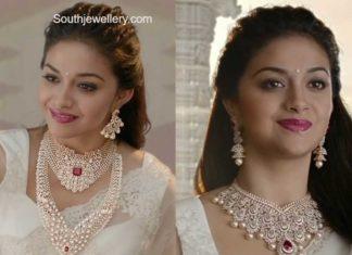 keerthy suresh in diamond jewellery (2)