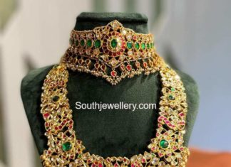 kundan choker and long haram