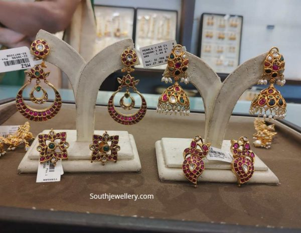 kundan earrings zaveri